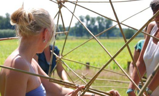 Bamboe challenge in Ommen